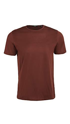 Theory Men's Luxe Precise T-Shirt, Dark Pimento, Red, Medium