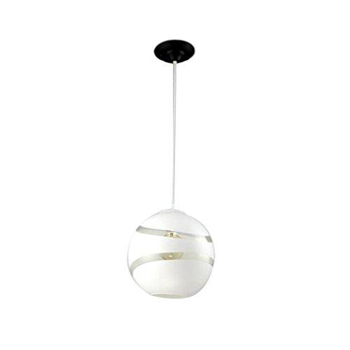 CSD Nordic Cafe Personality Simple Glass Lámpara colgante Modern Restaurant Bar Creative Living Room lámpara del dormitorio (Color : White)