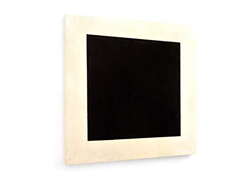 weewado Kasimir Malevich - Cuadrado Negro - 60x60 cm - Impresion en Lienzo - Muro de Arte - Canvas, Cuadro, Poster - Old Masters/Museum