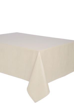Mantel antimanchas rectangular Olimpia 50% algodón 50% poliéster, resinado y con Teflón de Dupont - 150x250 - Liso beige