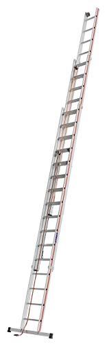 HYMER 406148 Seilzugleiter dreiteilig, 3x16 Sprossen