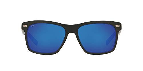 Costa Del Mar Aransas ARA11OBMGLP Hombres Negro Marco Azul Dial Cuadrado Gafas de sol