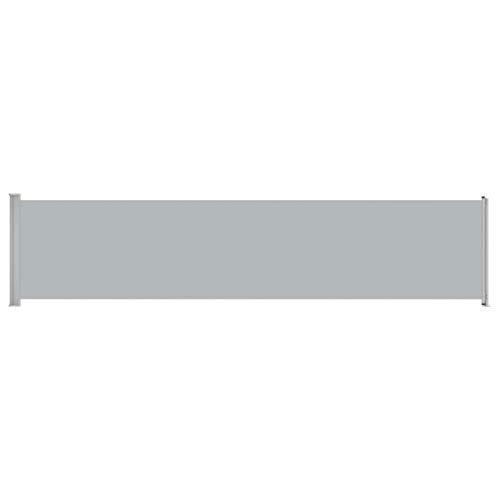 vidaXL Seitenmarkise Ausziehbar UV- und Wasserbeständig Sonnenschutz Sichtschutz Windschutz Seitenrollo Markise Balkon Garten Terrasse 140x600cm Grau
