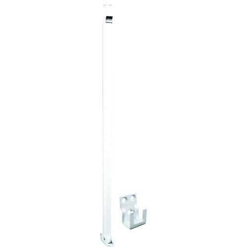 Prime-Line Products U 9921 Security Bar Lock, Telescopic, White Finish