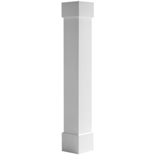Endura-Craft Craftsman Column Wrap (Cellular PVC), Non-Tapered, Smooth, Standard Base & Capital, 8