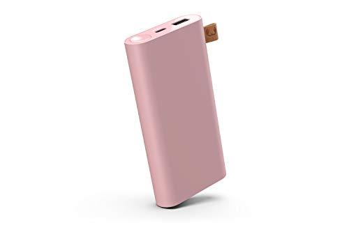 Fresh 'n Rebel Powerbank 12.000 mAh USB-C | Tragbares Ladegerät/Externer Akku - 2-ports USB-C & USB - Dusty Pink