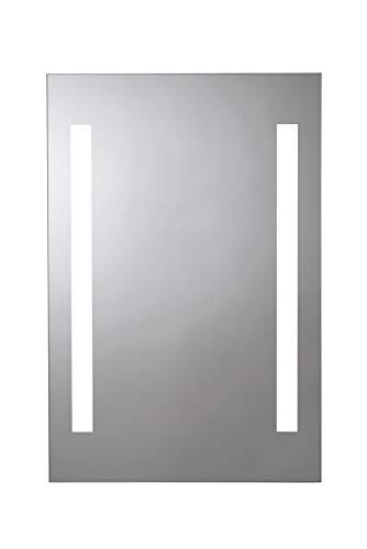 Croydex Thornton Hang 'N' Lock beleuchteter rechteckiger Spiegel mit zwei LED-Lichtleisten