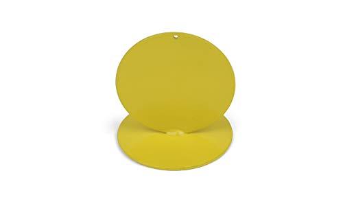 Anlaufmarkierung aus Metall, gelb