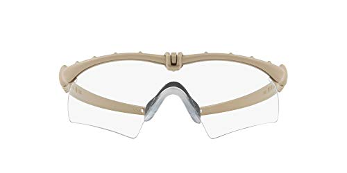 Oakley Si Ballistic M Frame 3.0 0OO9146 - Gafas de sol polarizadas rectangulares, color marrón claro, 32 mm