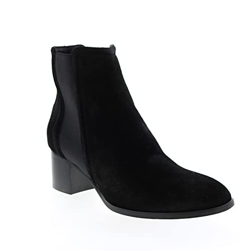 Aquatalia Womens Neeva Suede Elastic Black Chelsea Boots Boots 9.5