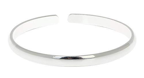Silberarmreif für Damen und Herren, aus massivem 925er Sterlingsilber