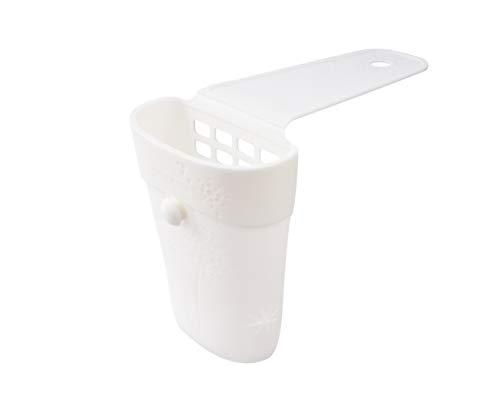 FACKELMANN Badezimmer-Utensilien-Halter Tecno, Halterung fürs Badezimmer, Halter ideal für Glätteisen, Föhn und Bürsten, Halterung aus hochwertigem Silikon (Farbe: Weiß), Menge: 1 Stück