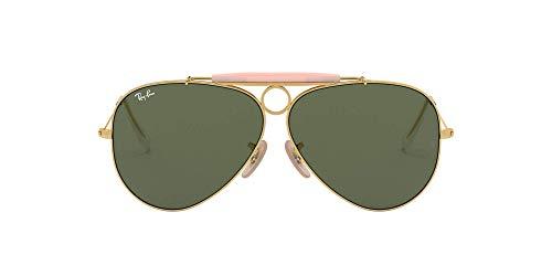 Ray-Ban Unisex Rb 3138 Sonnenbrille, Gold (Gestell: Gold, Gläser: Grün Klassisch 001), X-Large (Herstellergröße: 62)
