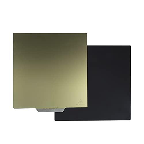 Kwyoo - Letto flessibile in lamiera di metallo PEI, superficie riscaldata magnetica, in PEI, pellicola in acciaio armonico, 305 x 320 mm, per stampanti 3D Tycoon Max/Ender 5/Ender 3/CR-20/CP-01