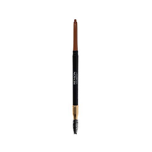 Revlon ColorStay Eyebrow Pencil with Spoolie Brush, Waterproof, Longwearing, Angled Tip Applicator for Perfect Brows, Auburn (215)