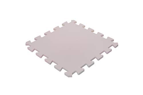 Iris Ohyama – Alfombra de protección de suelo Puzzle 4 piezas diferentes/colchón de gimnasia/fitness espuma EVA, goma EVA, beige, 45 cm