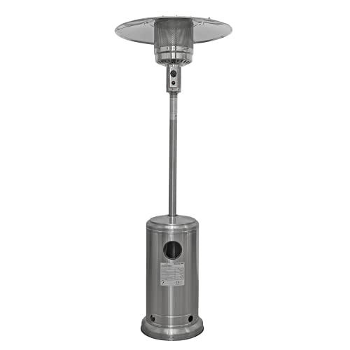 Dellonda Propane Gas Tower Patio Heater 13kW Stainless Steel