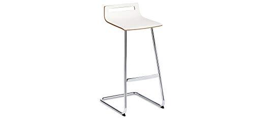 Sedus Meet Chair Sgabello Alto, Bianco, 47 x 41.5 x 88 cm