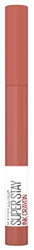 Maybelline New York Lippenstift, Super Stay Ink Crayon, Matt und langanhaltend, Nr. 100 Reach High, 1,5 g