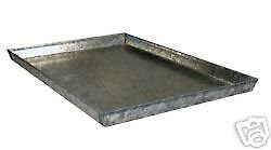 Everila 24Lx18W Dog Crate Cage Kennel Replacement Galvanized Steel Metal Pan Tray Floor for 24Lx18W Dog Crate
