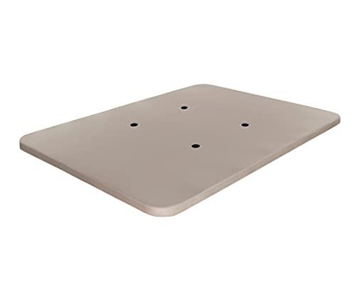 Dormidán - Base tapizada con Tejido 3D y Válvulas de Aireación | Sin Patas | Refuerzo Central | Medida 90x190cm | Color Beige