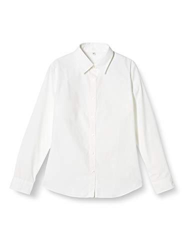 [セシール] ブラウス 形態安定シャツ 長袖UVカット 抗菌防臭 MW-1563 レディース ホワイト 日本 S (日本サイズS相当)