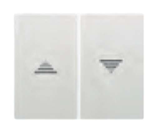 Bjc - 18765 tecla doble int/puls persiana iris blanco Ref. 6531010038