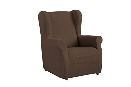 Textil-home Stretchhusse für Ohrensessel TEIDE, 1 Sitzer - 70 a 100Cm. Farbe Braun