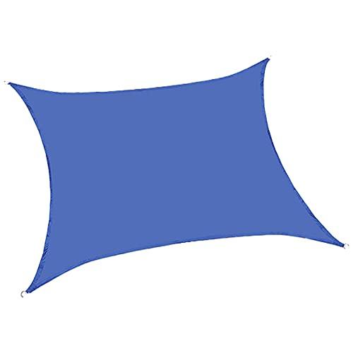 NANSHEN Outdoor isoliert Vier Ecksonnenschuhe Segel Sonnenproof Regendicht Wasserdicht Solide Durable Outdoor Haushalt staubdichte Terrasse Terrasse Terrasse Lake blue-4X6M