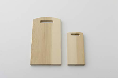 woodpeckerまな板いちょう木製日本製天然木いちょうの木のまな板持ち穴角(2小)