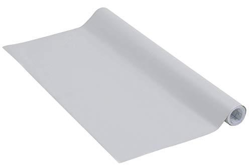 Venilia Wolkengrau Klebefolie Uni Matt Dekofolie Möbelfolie Tapeten selbstklebende Folie, PVC, ohne Phthalate, grau, 45cm x 2m, 160µm (Stärke: 0,16mm), 54347, 45 cm x 2 m