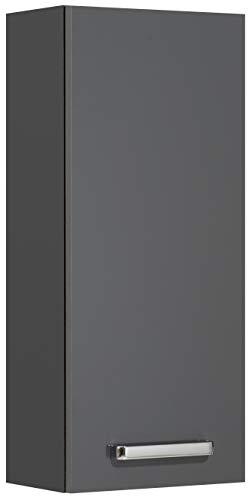Pelipal 311 Mainz Wandschrank, Holzdekor, Anthrazit Glanz, 20,0 x 30,0 x 70,0 cm