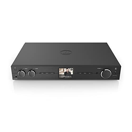 Hama HiFi-Tuner DIT2006BT mit Internet Radio, DAB/DAB+, Bluetooth (Tuner HiFi mit Internetradio, Digitalradio/FM, WLAN, Stereo Receiver Spotify, Fernbedienung, USB/AUX, Wecker) schwarz