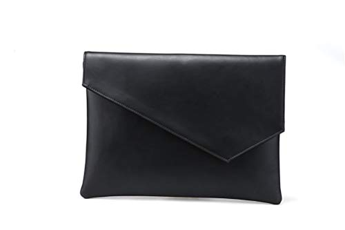 DFSDG Monedero largo para hombre, funda de piel sintética, bolsa de teléfono para hombre, de negocios, de mano, para hombre, color negro