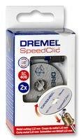 Dremel SC406 EZ SpeedClic - Set Inicial (2 Discos para Metal + Mandril), Accesorios para Herramientas Rotatorias, Diámetro de Trabajo 38 mm, Profundidad de Trabajo 14 mm
