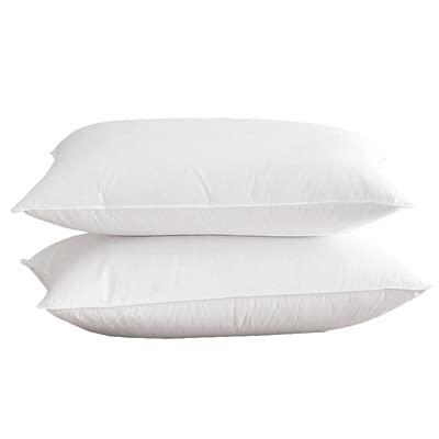 Almohada para Dormir 2 Piezas, en Lugar de Relleno de Microfibra, el Revestimiento Natural es Agradable para la Piel, Suave, apoya el Lado acostado, estándar, Blanco