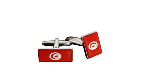 Flaggenfritze® Manschettenknöpfe Fahne Tunesien, tunesische Flagge