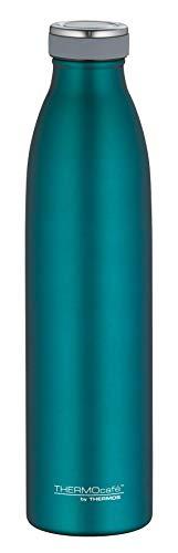 ThermoCafé by THERMOS 4067.255.075 Thermosflasche TC Bottle, Edelstahl Mat Teal 0,75 Liter, 12 Stunden heiß, 24 Stunden kalt, BPA-Free