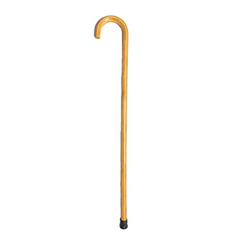 JJZXPJ bamboe wandelstok, krukken licht antislip ergonomisch handvat wandelstokken lopen enkele hand (bamboo kleur)
