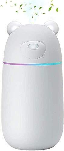 MANLI Luftbefeuchter 280ml Diffuser Ultraschall USB leise Mini Air Humidifier tragbar Diffusor Büro Wohnzimmer Autoabschaltung SPA Yoga Schlafzimmer