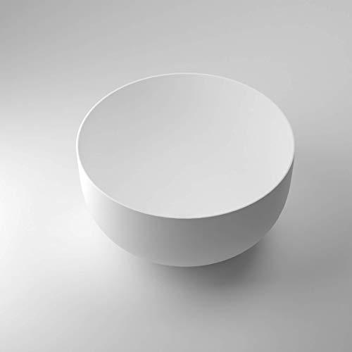 Luxuriöse Aufsatzwaschbecken | Waschbecken | Waschschale | Mineralguss/Gussmarmor/NORWAYstone | Matt Weiß | Klein | Eckig | Oval | Rund (Sofia)