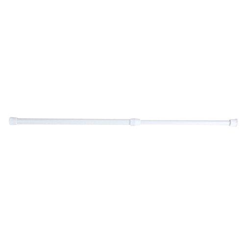 Ausla gordijnroede - voorjaar geladen uitschuifbare telescopische net voile spanning gordijn spoor paal staven wit 30-50cm