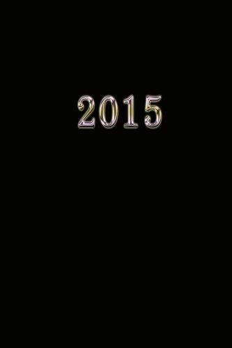 2015: Kalender/Terminplaner: 1 Woche auf 2 Seiten, Format ca. A5, Cover schwarz