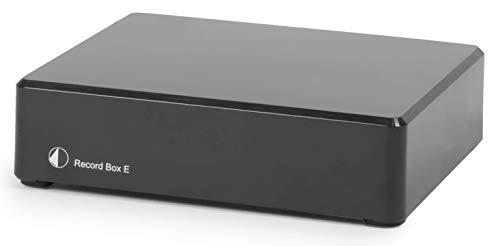 Pro-Ject Record Box E, Phonovorverstärker mit A/D Wandler und USB-Anschluss zum Digitalisieren Ihrer Plattensammlung (Schwarz)