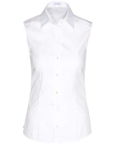 van Laack Damen Payton-NOS Bluse, Weiß (Weiß 000), 42