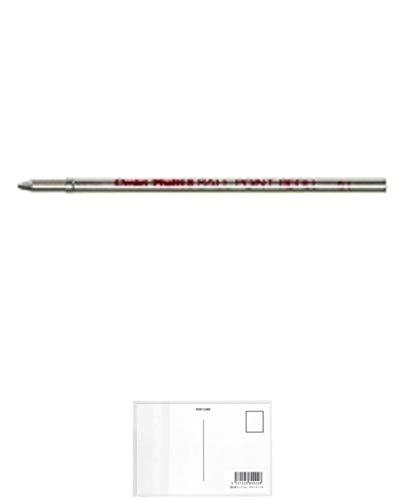 ぺんてる ボールペン替芯 マルチ8専用 0.7mm 赤インキ CMB-B + 画材屋ドットコム ポストカードA