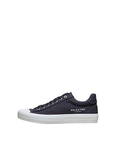 SELECTED HOMME Male Sneakers Canvas 41Dark Navy