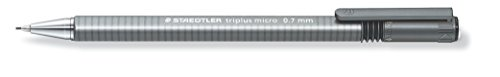 Staedtler Triplus Micro 774 0.7mm - Lápiz mecánico (Gris, Negro, 0,7 mm, Triangular, Metal, Retráctil)