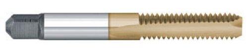 Titan TT92216 High Speed Steel Spiral Point Bottoming Tap, TiN Coated, 4