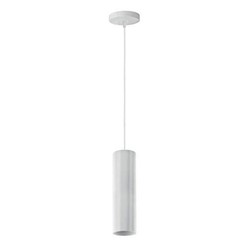 NOVA Line Lámpara colgante de techo moderna Pendel cilindro de aluminio para bombillas GU10 (blanco)